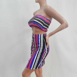 CHROMATIC STRIPE TWO-PIECE PRINTED ..