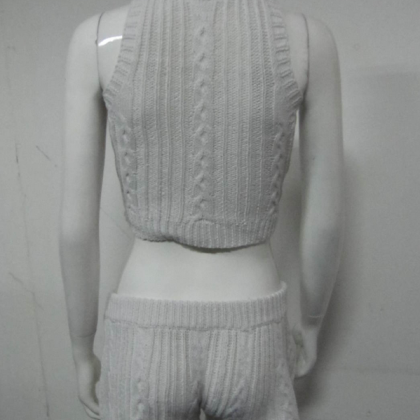 FASHION TWO PIECE SWEATER SUIT SHOW..