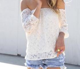 White Lace Off-The-S..