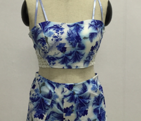 HOT BLUE LACE PRINT ..
