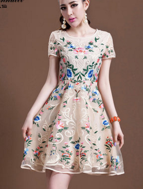 FASHION FLOWER HANDMADE DRESS
