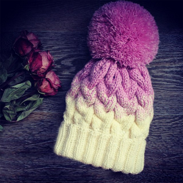 The new autumn and winter women knitted wool cap crimping warm