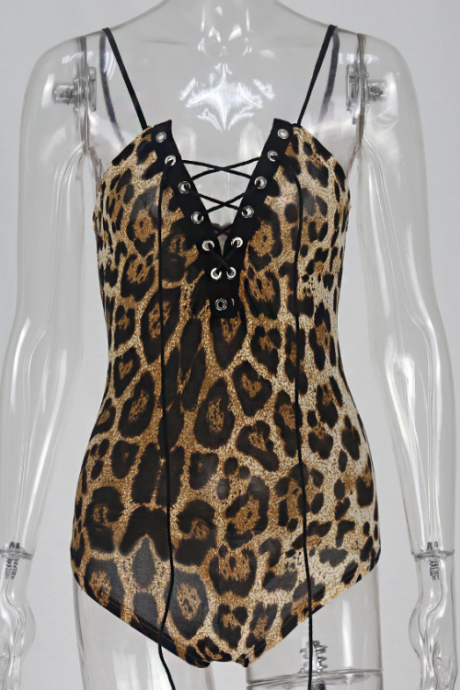 Hot style leopard print seduction corset gathered to support the bra