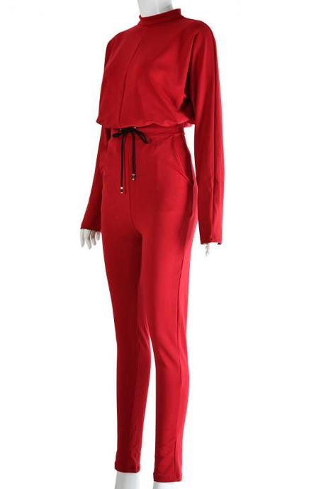 Explosive casual long-sleeved trousers two-piece suit