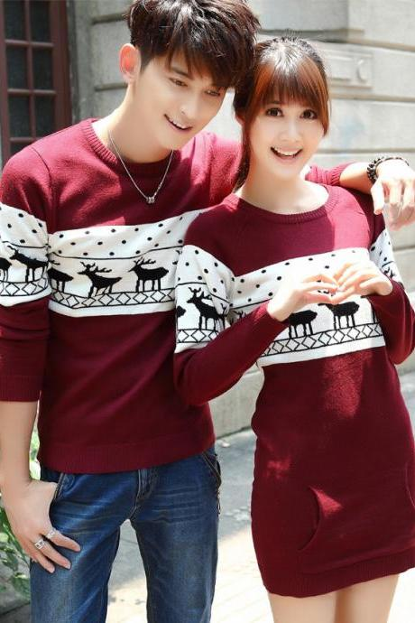 FASHION GIRL BOY COUPLE SWEATERS