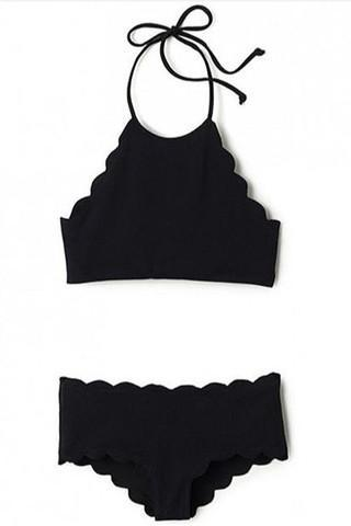 FASHION CUTE SCALLOPED TWO PIECE BIKINIS