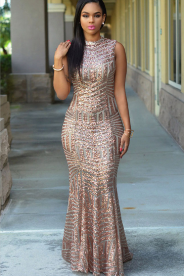 HOT SEQUINS SHINING LONG HIGH QUALITY DRESS LOWEST PRICE