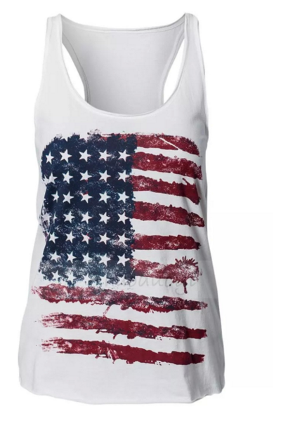 FASHION FLAG VEST TOP SHIRT BLOUSE
