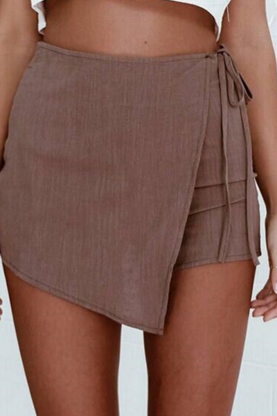 Boho Irregular Bow Tie Shorts