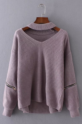 Autumn and winter new sexy V-neck sweater