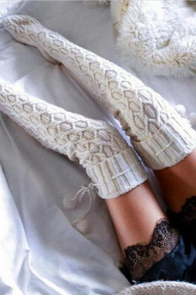 The new autumn/winter warm long leg warmers White