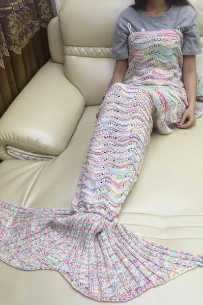 Mermaid Party to Be Adored Blanket Colorful hollow