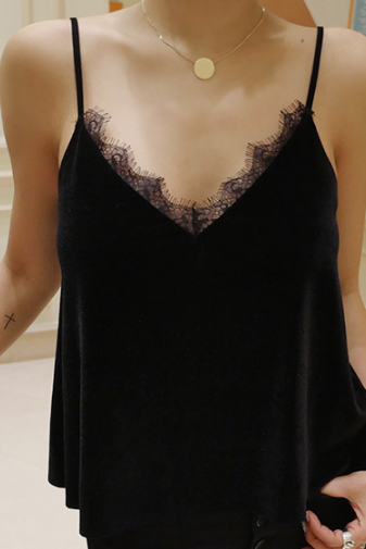 Lace Lace black Top