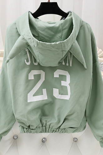 Women 's Spring Hooded Hooded Jacket