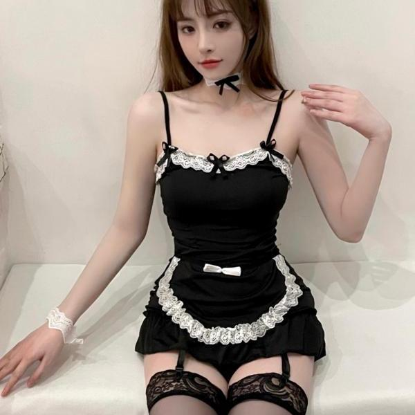 Summer home service pajamas women's new lace sexy sling short skirt casual can be worn outside