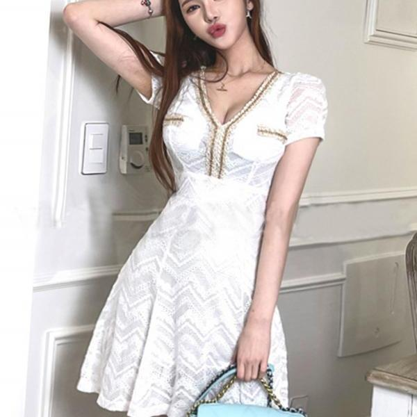 Summer dresses, new ladies, ladies' fashion, slim temperament, thin A-line skirts