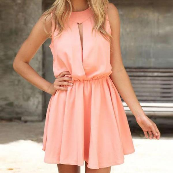ON SALE DEW CHEST SLEEVELESS PINK OF CULTIVATE ONE'S MORALITY DRESS