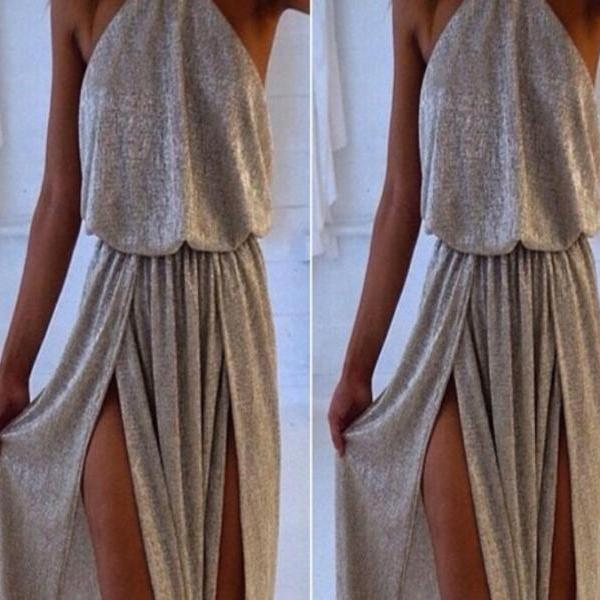 HOT Sleeveless split irregular dress fashion