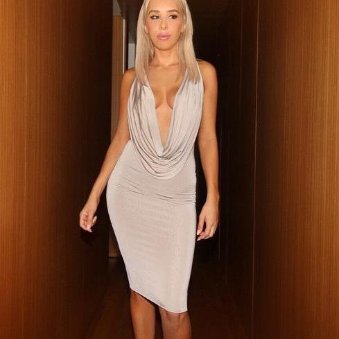 HOT DEEP V SEXY HOT DRESS