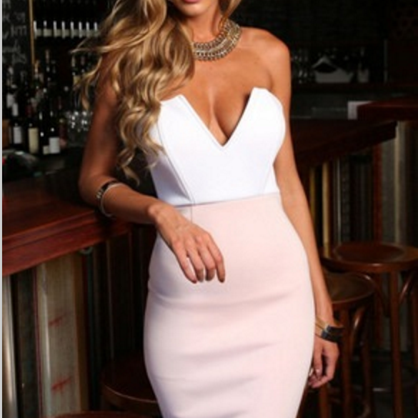 HOT STRAPLESS CUTE DRESS FRESH