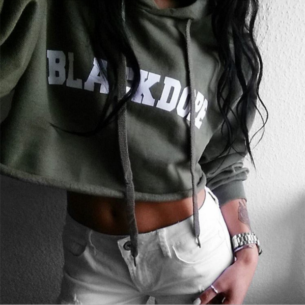 SEXY DARK GREEN LETTERS SWEATER
